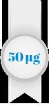 50 mikrogrammaa